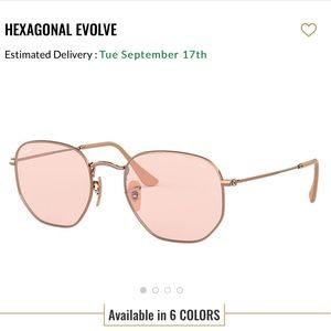 RAY-BAN PINK EVOLVE COLLECTION SUNGLASSES